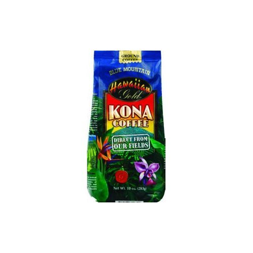 Hawaiian Gold Blue Mountain Ground, 10 Oz (Pack of 6) by Hawaiian Gold