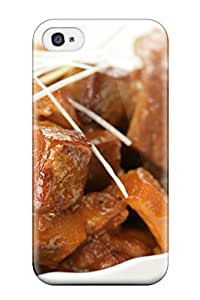 For Iphone 4/4s Premium Tpu Case Cover Chinese Food Protective Case