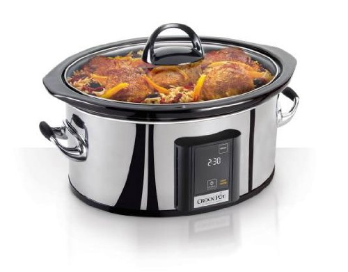 Crock-Pot 6.5-Quart, Programmable Touchscreen Slow Cooker, Silver, SCVT650-PS