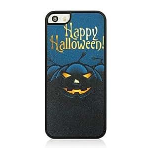 MOFY-El caso duro de halloween patr—n de calabaza de pl‡stico negro para el iphone 5 / 5s