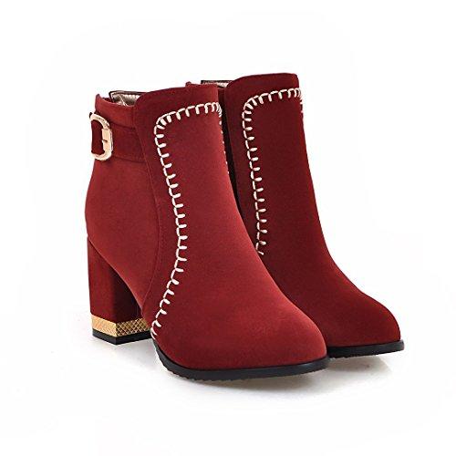 Color Botas DYF de Mujer S Zapatos Cortas qxzPBw