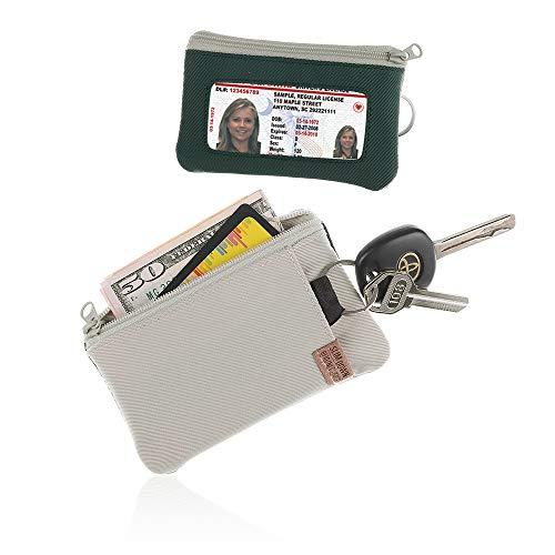 Coin Id Keychain Purse - IKEPOD Lightweight Sports Surfshort Wallet - ID window, keychain, RFID Holder