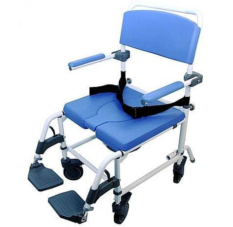 Shower Transport Chair Bath Toilet Rehab Commode Bariatric 22