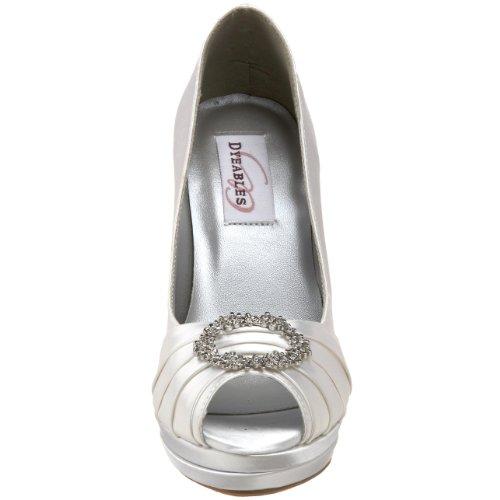 Dyeables DYEABLE yánna Blanc Chaussures de mariage pour (UK2-9)