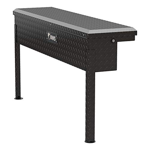 UWS EC30202 48-Inch Gloss Black Aluminum Truck Side Tool Box with Low Profile ()