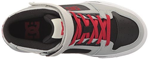 DC Kids Youth Spartan High EV Skate Shoes Sneaker Grey/Black/Red