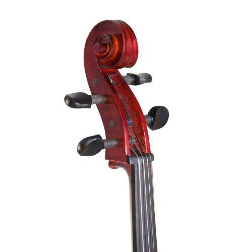 Metallic Mahogany 4//4 Full Size Style 4 Cecilio CECO-4DW Ebony Fitted Silent Electric Cello