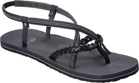Womens Black Toe Round Gull Face Casual Dark Strappy Gladi Tnf Sandals The Grey North FWnvHUxEE