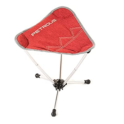 Petrous BBQ Tripod Chair - Ultra Light Weight Compact Technical Collapsible Stool - Perfect for Camping, Hiking, Backpacking, Bikepacking, Mountaineering