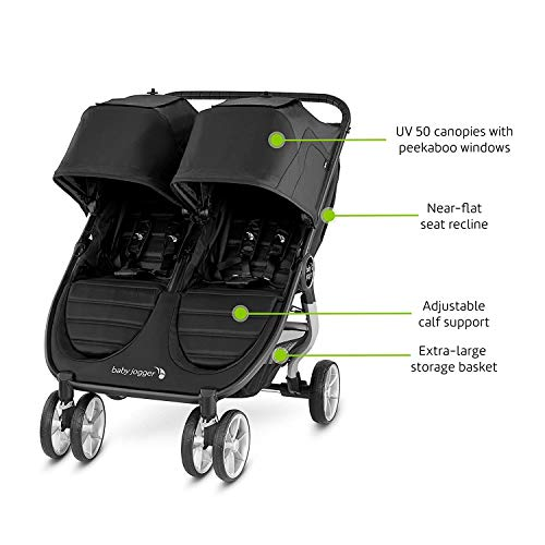 41PcjV5WB4L - Baby Jogger City Mini 2 Double Stroller, Slate