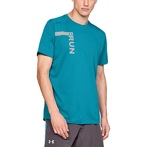 - Under Armour Men's Run Tall Graphic Short sleeve Shirts, Deceit (439)/Reflective, Medium