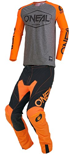 O'Neal - 2019 Mayhem Hexx (Mens Orange & Black X-Large/36W) MX Riding Gear Combo Set, Motocross Off-Road Dirt Bike Jersey & Lite Pant (Orange Mayhem Pants)