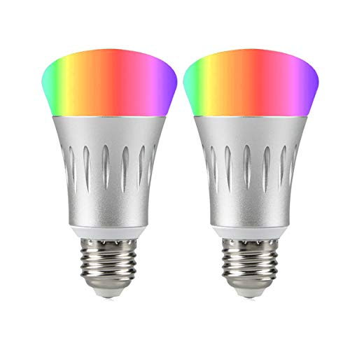 Wi-Fi Smart Light Bulb, Dimmable Multicolored LED Bulbs, 60W Equivalent(7W), Compatible with Amazon Alexa and Google Home, No Hub Required(2 Pack) …