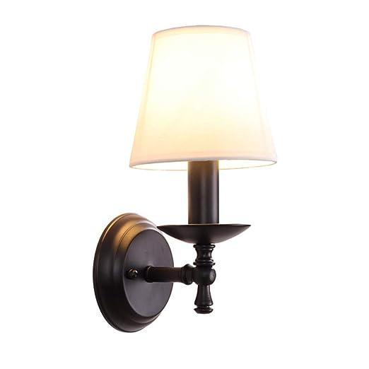 Amazon.com: Moderna lámpara de pared de lino nórdico simple ...