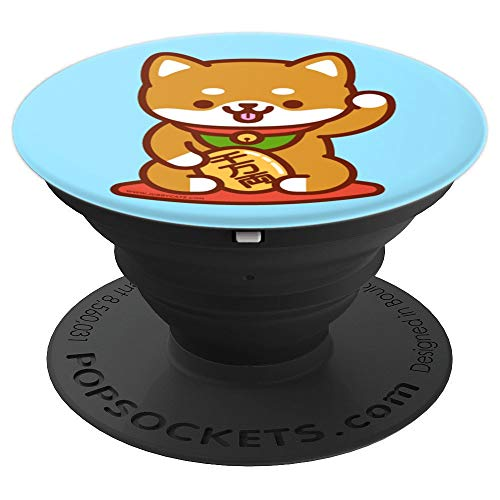 - Funny Dog MANEKI-INU, Shiba Inu, Japanese Lucky Dog - PopSockets Grip and Stand for Phones and Tablets
