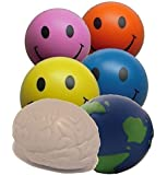 Stress balls x 6 x Mixed Balls Stress by StressCHECK - Stress Ball Sensory Toys – Stress Relief Toys and ADHD Toys for Autism