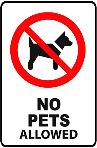 Promodor 8 in. x 12 in. Plastic No Pets Allowed Sign