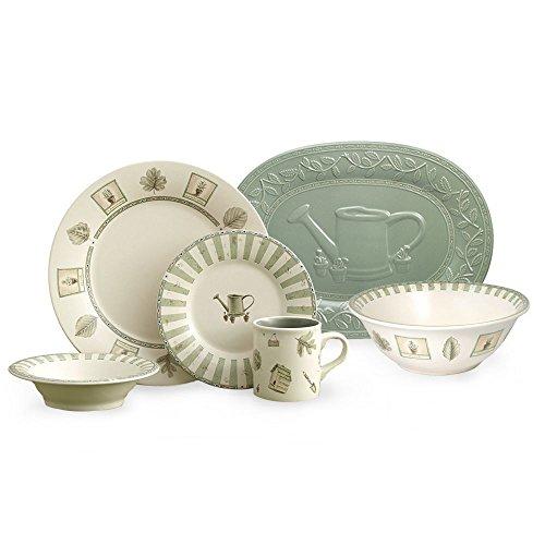 Pfaltzgraff Naturewood 32 Piece Dinnerware Set, Serivce for 8 (Oval Plates Pfaltzgraff)
