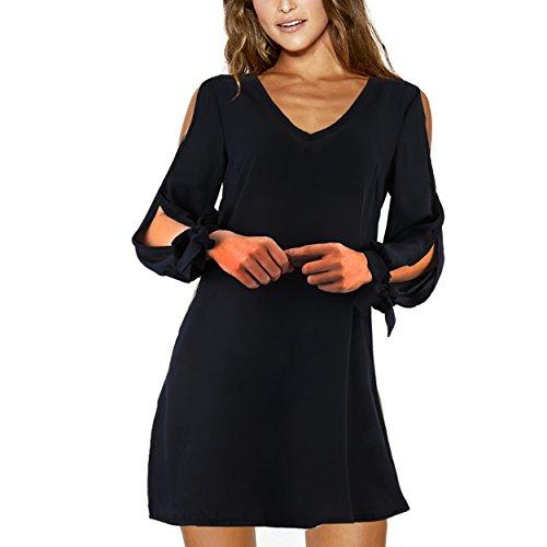 Ronde Fluide Imprim Manche Robe Fleurie Epaule Noir A Col Denude Femme Boheme Longue Lingne JunJunBag Tunique q1xUgF1