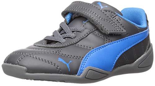Bunting Indigo - PUMA Baby Tune Cat 3 Velcro Sneaker, Asphalt-Indigo Bunting, 9 M US Toddler