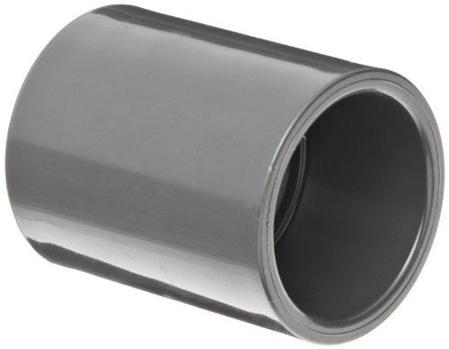 GF Piping Systems PVC Pipe Fitting, Coupling, Schedule 80, Gray, 1 Slip Socket by GF Piping Systems