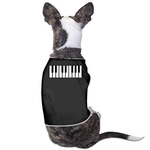 LNUO-2 Pet T-Shirt, Piano Keys Printed Dog Cat