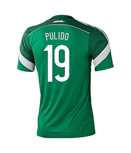 流産ぼろ聞きますAdidas PULIDO #19 Mexico Home Jersey World Cup 2014 YOUTH/サッカーユニフォーム メキシコ代表 ホーム用 ワールドカップ2014 背番号19 プリド ジュニア向け