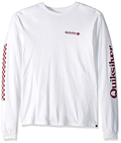 (Quiksilver Men's Check IT Long Sleeve, White XL)