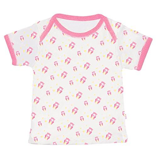 Babysoy Comfy Essential Tee (18-24 Months, Pink (Bear Organic Kids T-shirt)