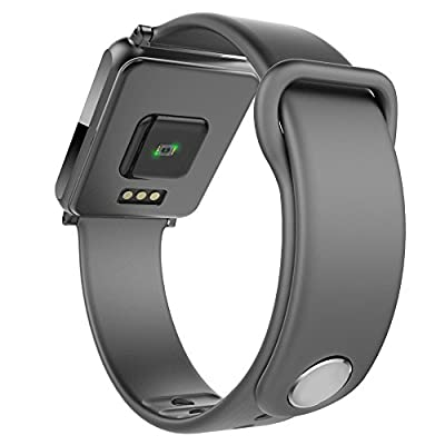"""Meicent® Smart Watch Heart Rate Monitor, Pedometer , Calorie Consumption , Sleep Monitoring , Mileage , Activity Monitor ,Caller ID/SMS Reminder ,1.28""""Touch Screen Bluetooth 4.0 Fitness Tracker."""