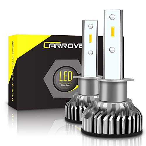 H1 LED Headlight Bulbs, CAR ROVER 50W 10000Lumens Extremely Bright 6000K CSP Chips Conversion Kit