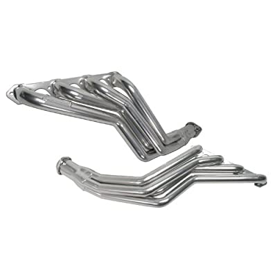 """BBK 15190 1-5/8"""" Long Tube Full Length High Flow Performance Exhaust Headers for Ford Mustang 5.0L - Polished Silver Ceramic Finish"""
