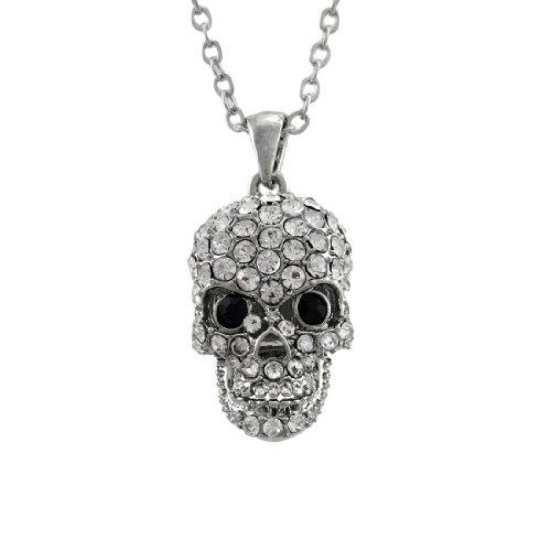 Silver Tone Gothic Metal Skull Charm Pendant - 5