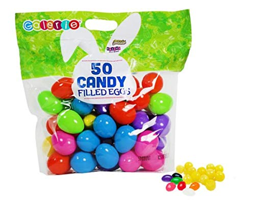 Filled Candy (Chewy Lemonheads and Brach's Jelly Beans Filled Easter Eggs, Pack of 50)