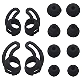 ALXCD Replacement Eartips & Wingtips BeatsX, S/M/L & Double Flange 4 Pair Eartips & S/L 2 Pair Wingtips, Fit Beats Dr. DRE BeatsX Headphone (Black 8+4)