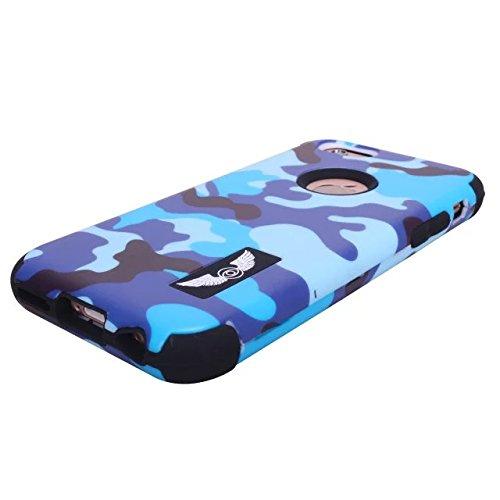 iPhone 6 Cas, iPhone 6S Case, Lantier Slick [Angel Eyes Series] hybride Durable 3 en 1 PC + silicone souple Design Adhésif pour pare Slim Hard Cover affaire pour Apple iPhone 6 / 6S Soldat ArmyGreen C