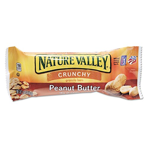 Nature Valley SN3355 Nature Valley Granola Bars Peanut Butter Cereal 1.5oz Bar 18/Box ()