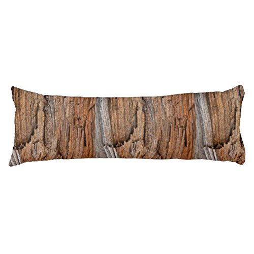 UOOPOO Rustic Wood Polyester Body Pillow Cover Square 20 x 54 Inches for Bed Print on Twin Sides