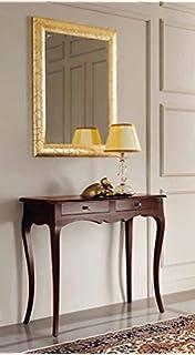 estea mobili - tavolo legno consolle e specchio ingresso arte ... - Mobili Ingresso Offerte