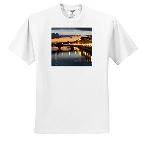 3dRose Danita Delimont - Italy - Italy, Florence. City Streetlights Illuminate The riverfront Streets. - T-Shirts - Toddler T-Shirt (2T) (ts_277576_15) (Florence 15 Light)