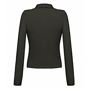 Cheryl Bull Trendy Womens Long-Sleeved Solid Lapel Front Open Jacket Blazer Army GreenX-Small