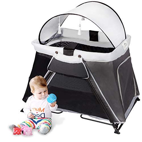 Kinbor Baby Travel Crib Portable Lightweight Playard