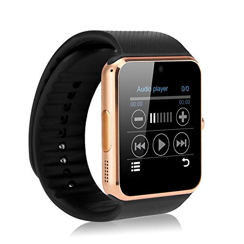 Hongyu GT08 Bluetooth Smart Watch with Camera, SIM Card Slot For Iphone And Android Phones - Gold
