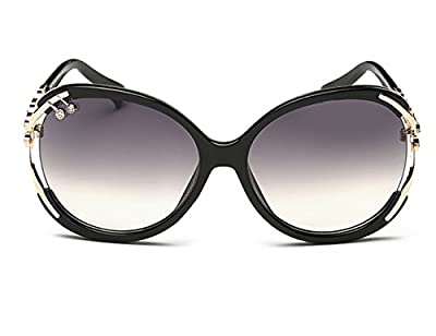 Luxury Women's Wayfarer Sunglasses Arms Decoration with Crystal /Uv400 Clear Lens