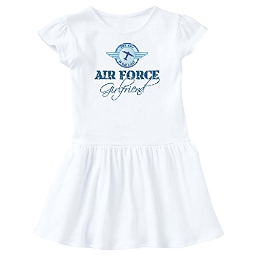 - inktastic - Sky is The Limit Air Force Girl Toddler Dress 2T White c8dd