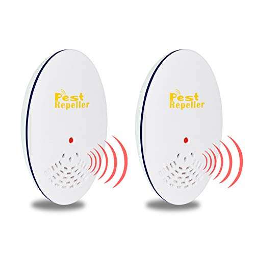 KHYQW Ultrasonic Pest Repeller 2 Pack,Upgraded Plug in Electronic Pest Repellent Indoor Control, for Mice Rats Mosquitos…