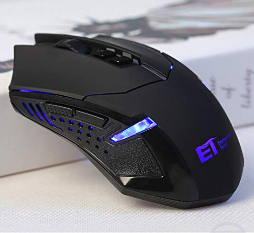 FarSight 2.4G Wireless Gaming Mouse, LED Backlight,2400DPI 5 Adjustable DPI Mice, 6 Programmable Buttons for Gamer PC, Laptop, Notebook, Computer, Macbook,Black