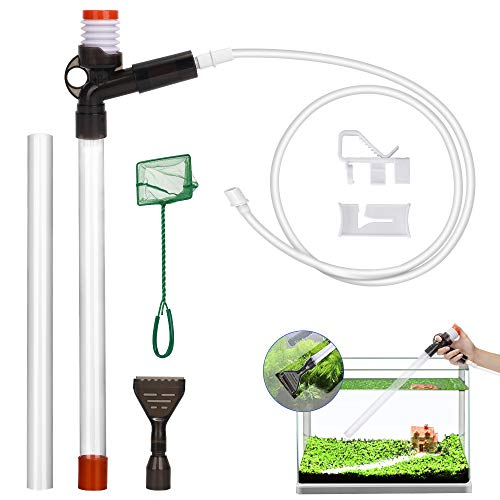 Lukovee Fish Aquarium Cleaner, Gravel Cleaner Fish Tank Water and Sand Changer Device with Stressless Syphon Starter…
