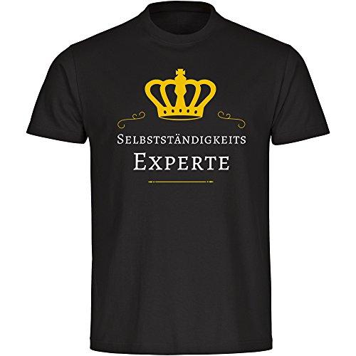 T-Shirt Rundhals Selbstständigkeits Experte schwarz Herren Gr. S bis 5XL, Größe:XL