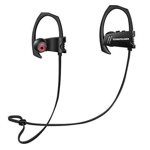 Bluetooth Earbuds, Latest CSR 4.1 Wireless Technology, Stereo Sound, Built-In Microphone, and IPX4 Water-Resistant Headphones for Active Lifestyles by ICONNTECHS IT (Audio H3 Waterproof Headphones)